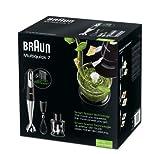 Braun Minipimer 7 MQ725 Omelette - Batidora de mano, 750 w, accesorio minipicadora 350 ml, accesorio varillas, vaso medidor...