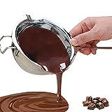 Chytaii - Cuenco, cazo para baño María de acero inoxidable, bol para fundir chocolate o mantequilla, con asa, utensilio de...