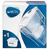 BRITAAluna blanca- Jarra de Agua Filtrada con 1 cartucho MAXTRA+, Filtro de aguaBRITA que reduce la cal y el cloro,...