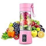 Mini licuadora Smoothie, exprimidor eléctrico de cítricos, licuadora portátil Mini Fruit Blender, 380 ml para deporte y...