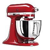 KitchenAid 5KSM125 EER Artisan 5KSM125EER-Robot de Cocina, tazón de 4.8 L, Color Rojo, 300 W, 4.8 litros, 52 Decibelios,...