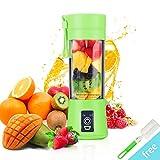 Juicer Cup, BWORPPY Juicer Blender portátil con cable USB, mezclador de frutas para el hogar, Baby Travel, 380ml (Verde)