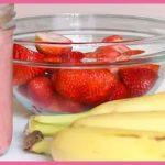 batido de fresa y platano para adelgazar