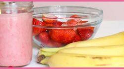 Batido de fresa y plátano