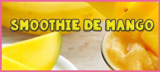 smoothie de mango en batidora
