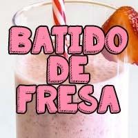 smoothie de fresa natural