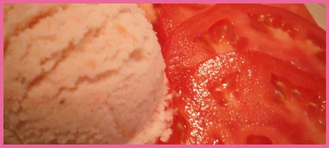 como hacer un buen helado de tomate