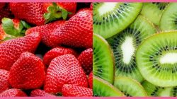 Batido de fresas con kiwi